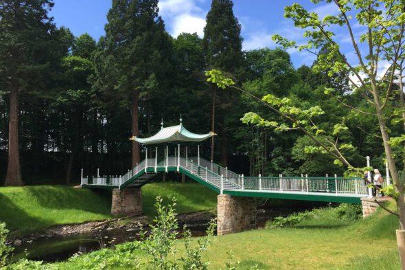 Chinese Bridge Pagoda, Dumfries House, Scotland