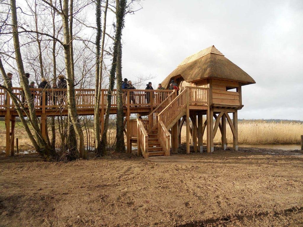 Traditional timber bird hide