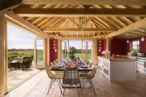 Oak Framed Extension, Moat Cottage, Suffolk