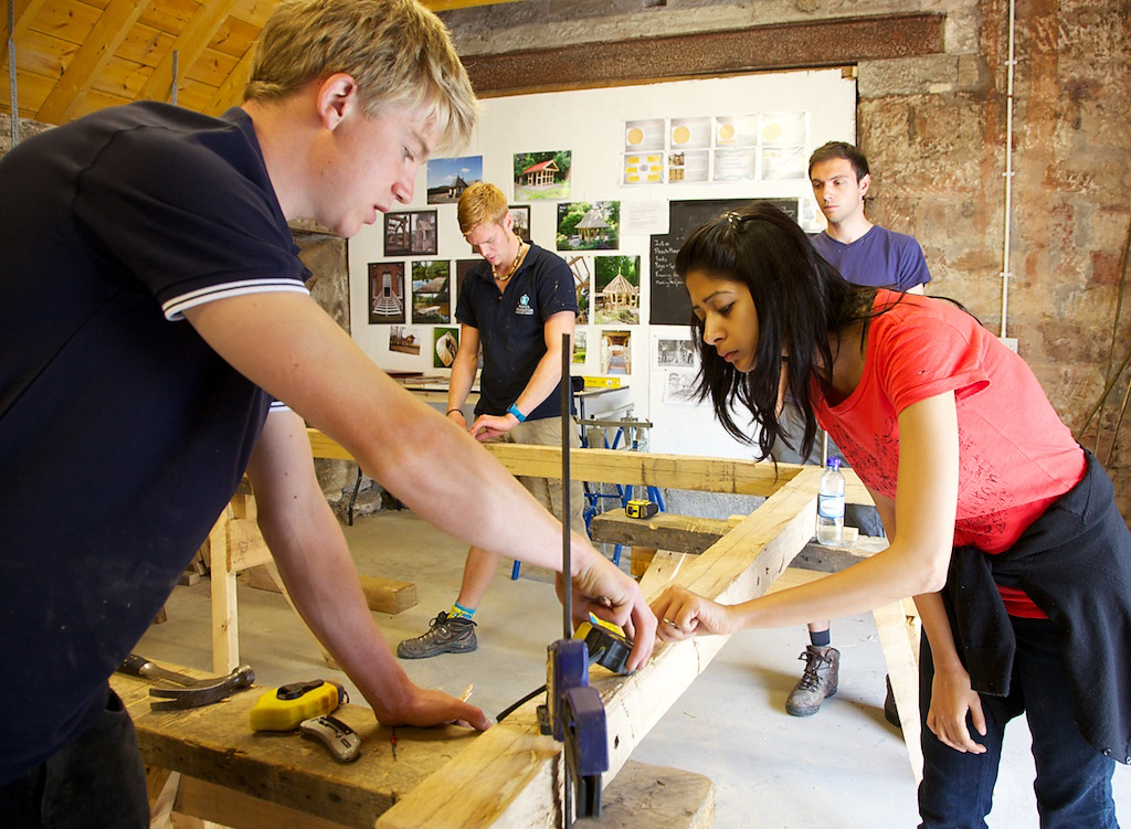 The Prince's Foundation – teaching oak framing