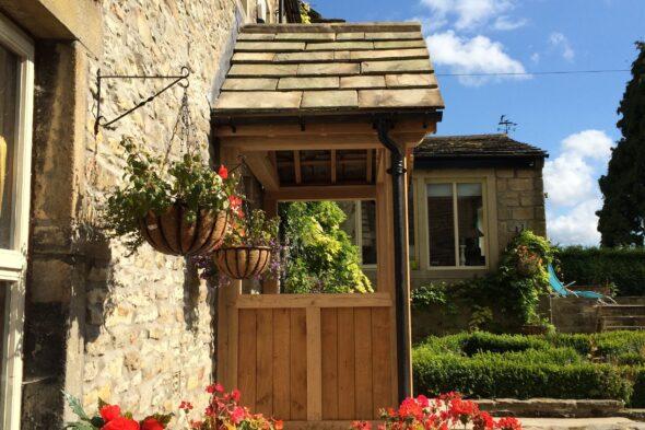 Oak Framed Porch, West Hall, Yorkshire