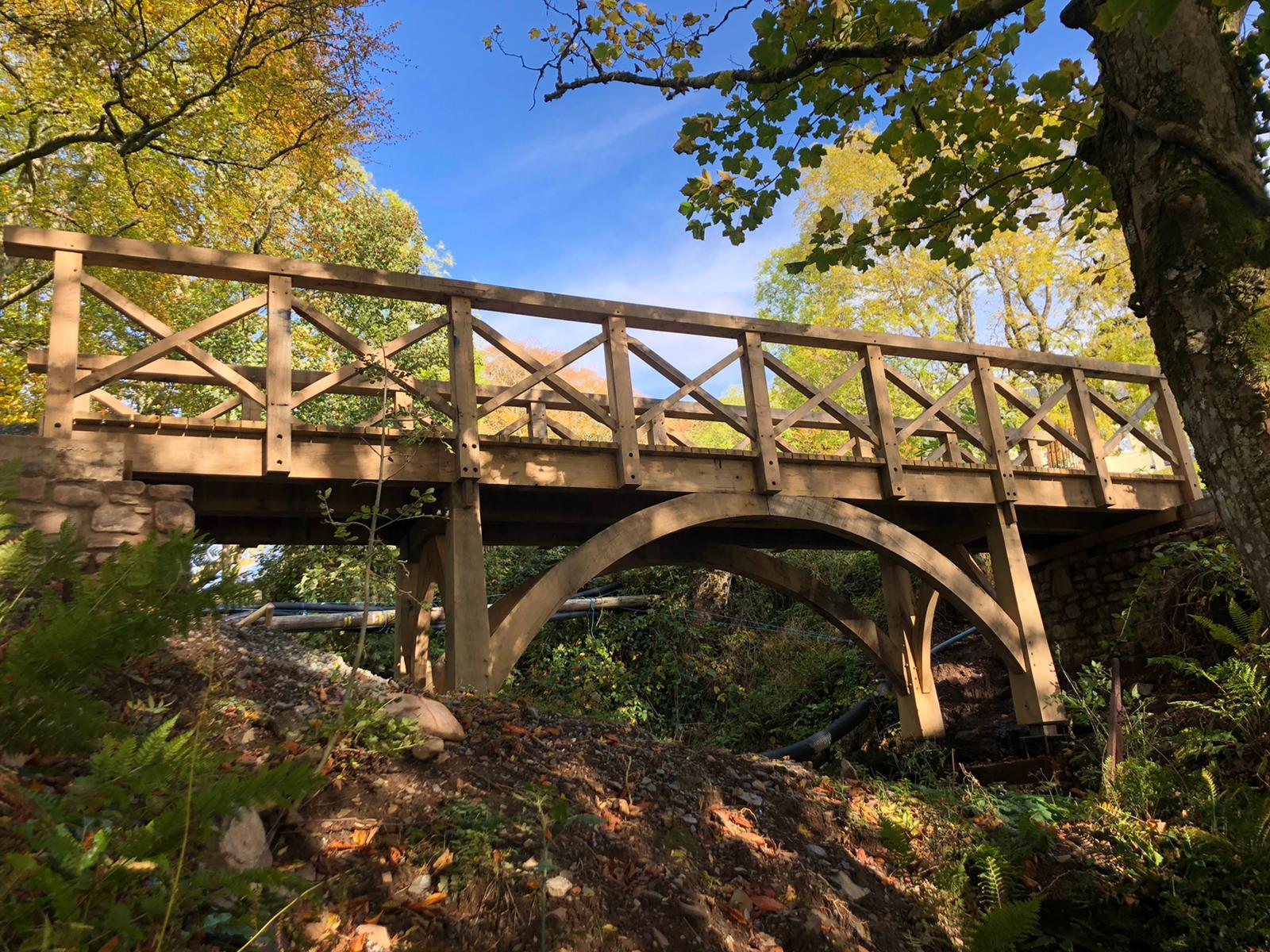 The story of one Scottish oak framed bridge